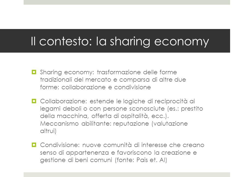 Il contesto: la sharing economy