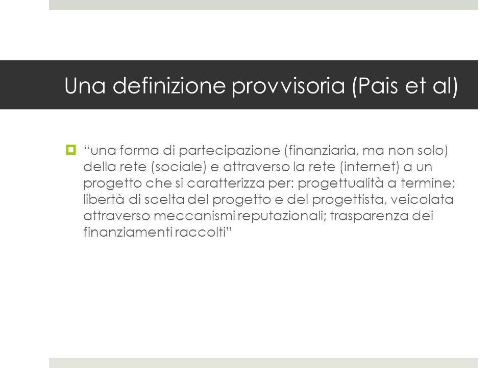 Una definizione provvisoria (Pais et al)