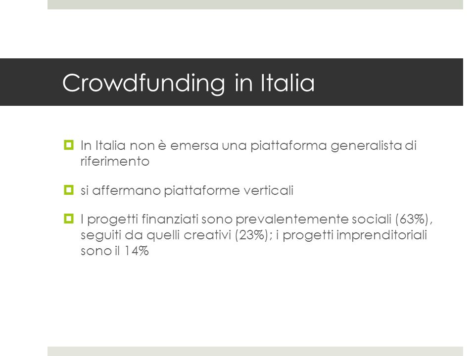 Crowdfunding in Italia