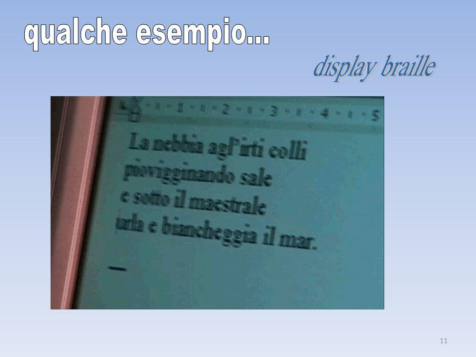 qualche esempio... display braille
