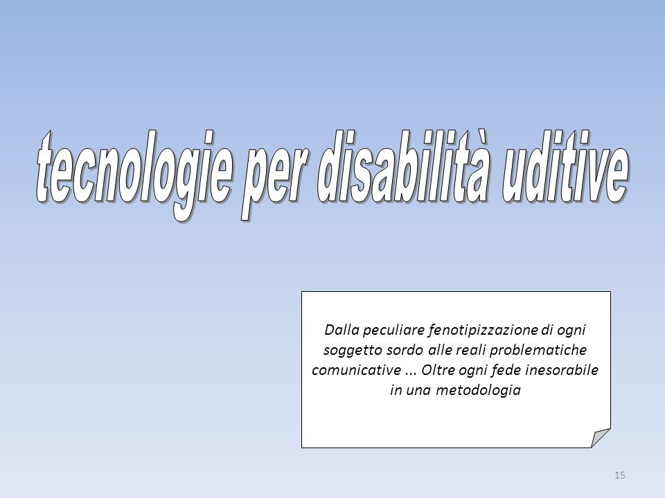tecnologie per disabilità uditive