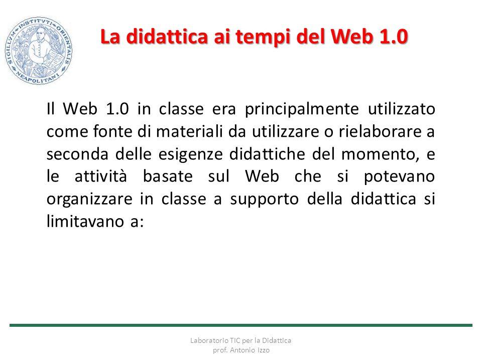 La didattica ai tempi del Web 1.0
