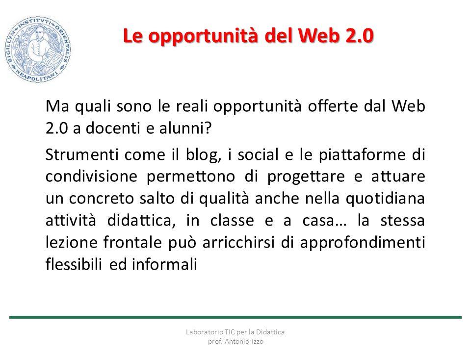Laboratorio TIC per la Didattica prof. Antonio Izzo
