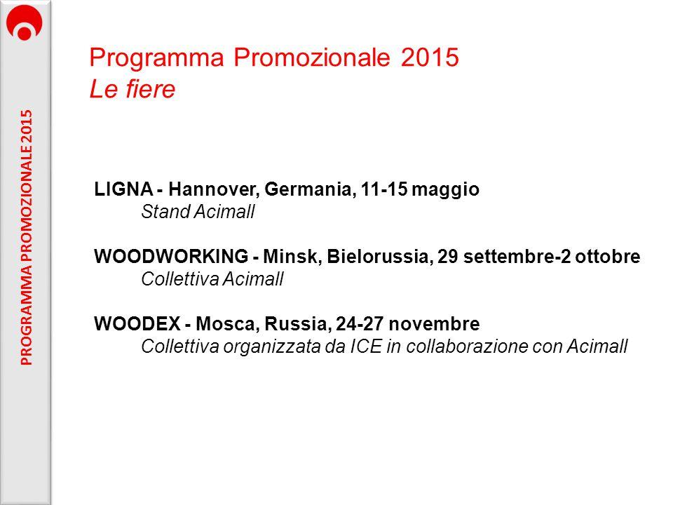 PROGRAMMA PROMOZIONALE 2015