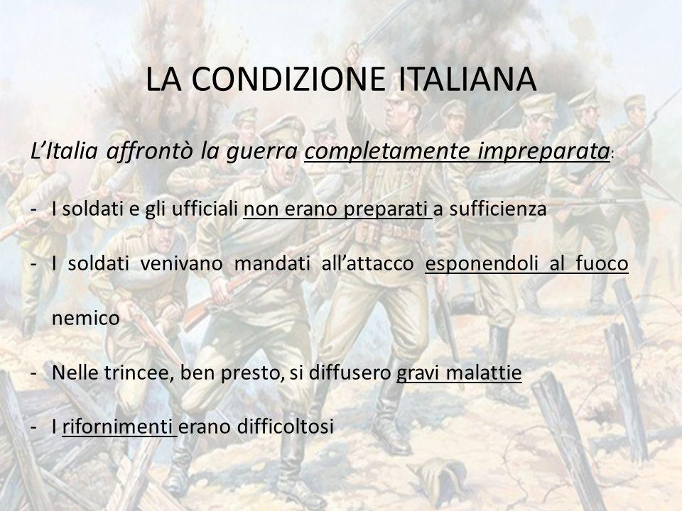 LA CONDIZIONE ITALIANA