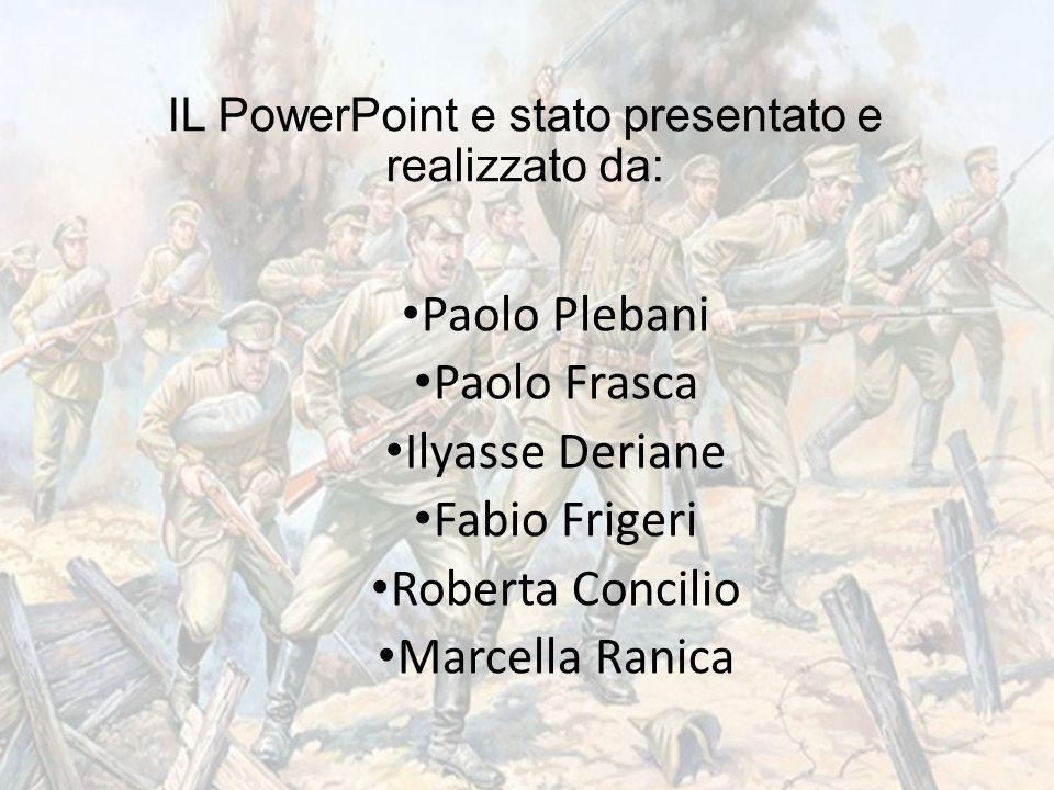 IL PowerPoint e stato presentato e realizzato da: