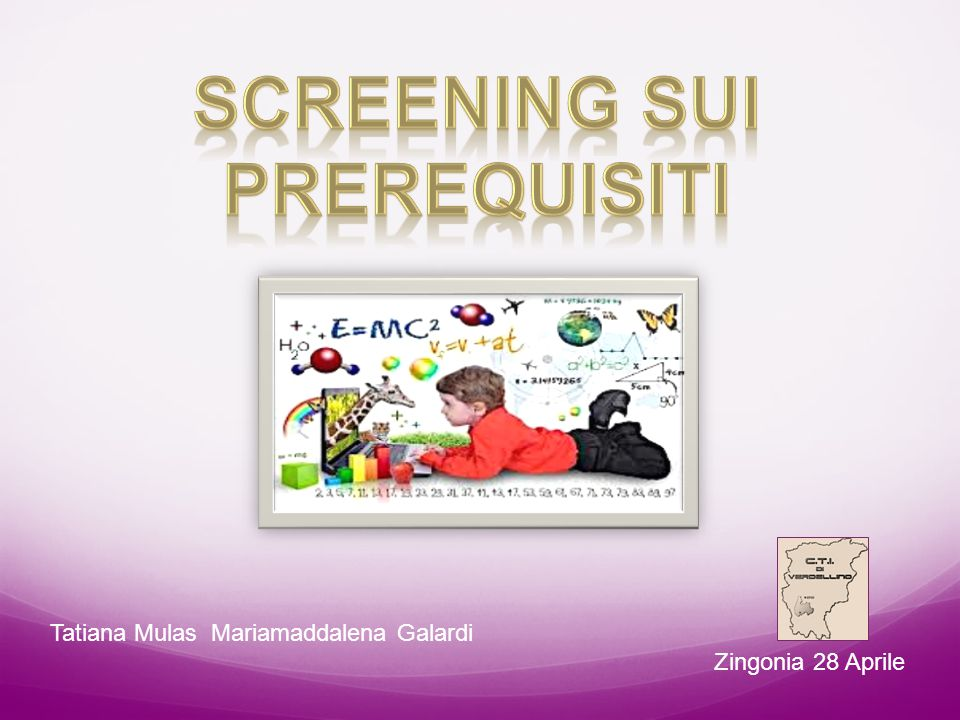 SCREENING SUI PREREQUISITI