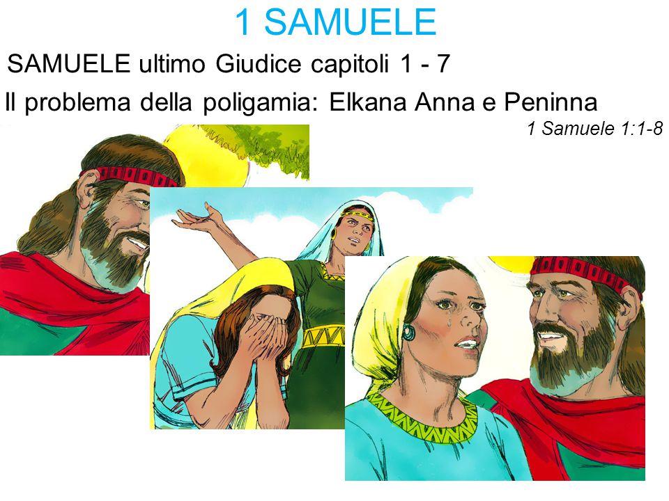 1 SAMUELE SAMUELE ultimo Giudice capitoli 1 - 7