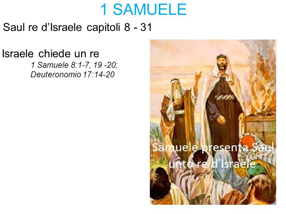 1 SAMUELE Saul re d'Israele capitoli 8 - 31 Israele chiede un re