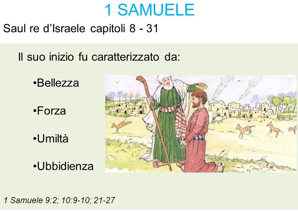 1 SAMUELE Saul re d'Israele capitoli 8 - 31