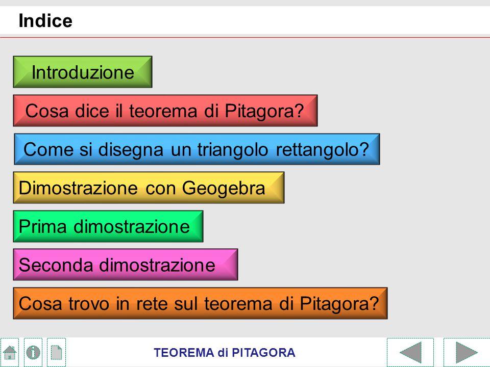 Cosa dice il teorema di Pitagora