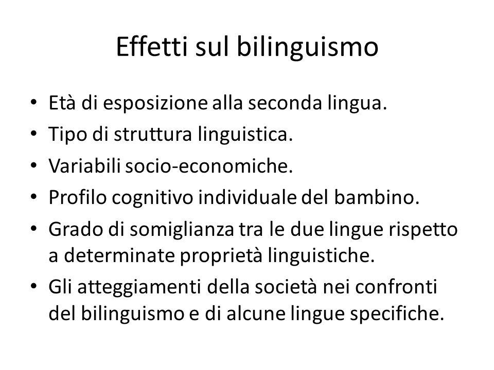 Effetti sul bilinguismo