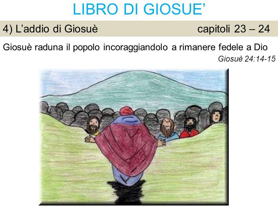LIBRO DI GIOSUE' 4) L'addio di Giosuè capitoli 23 – 24