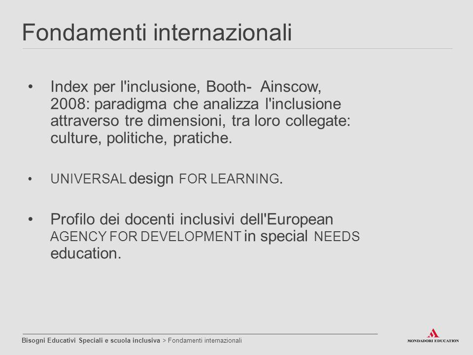 Fondamenti internazionali