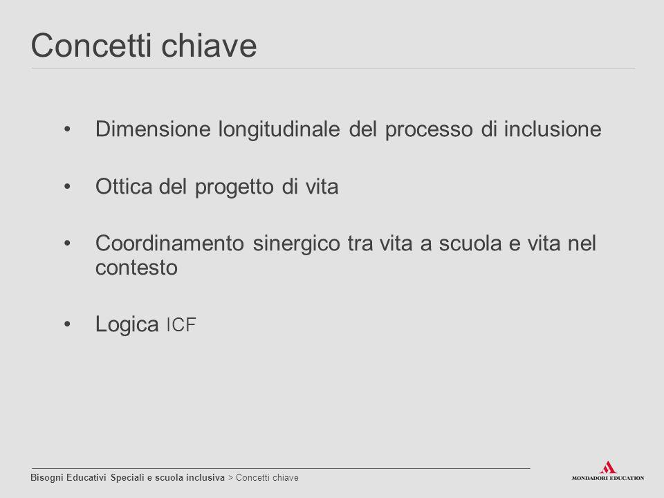 Concetti chiave Dimensione longitudinale del processo di inclusione