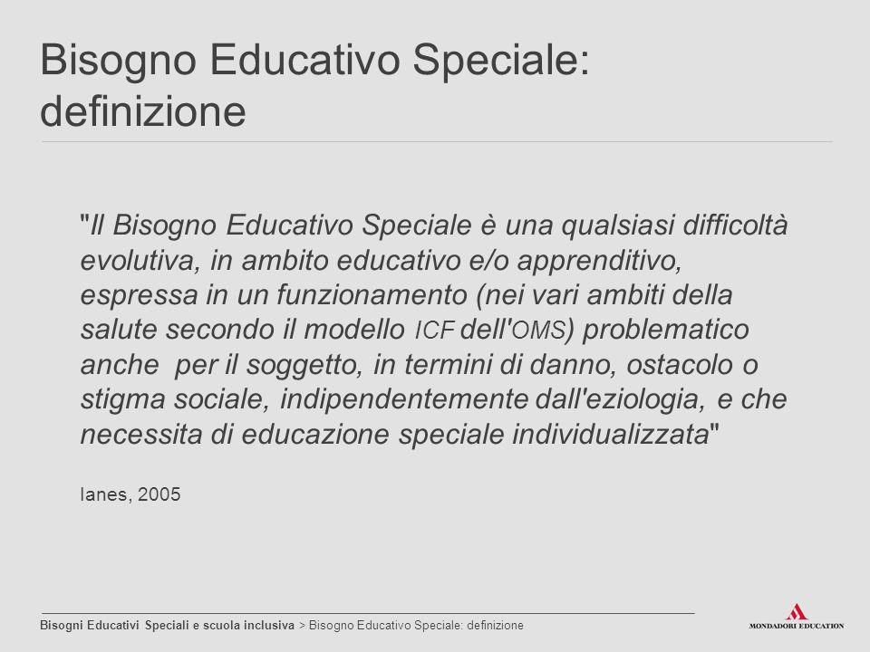 Bisogno Educativo Speciale: definizione