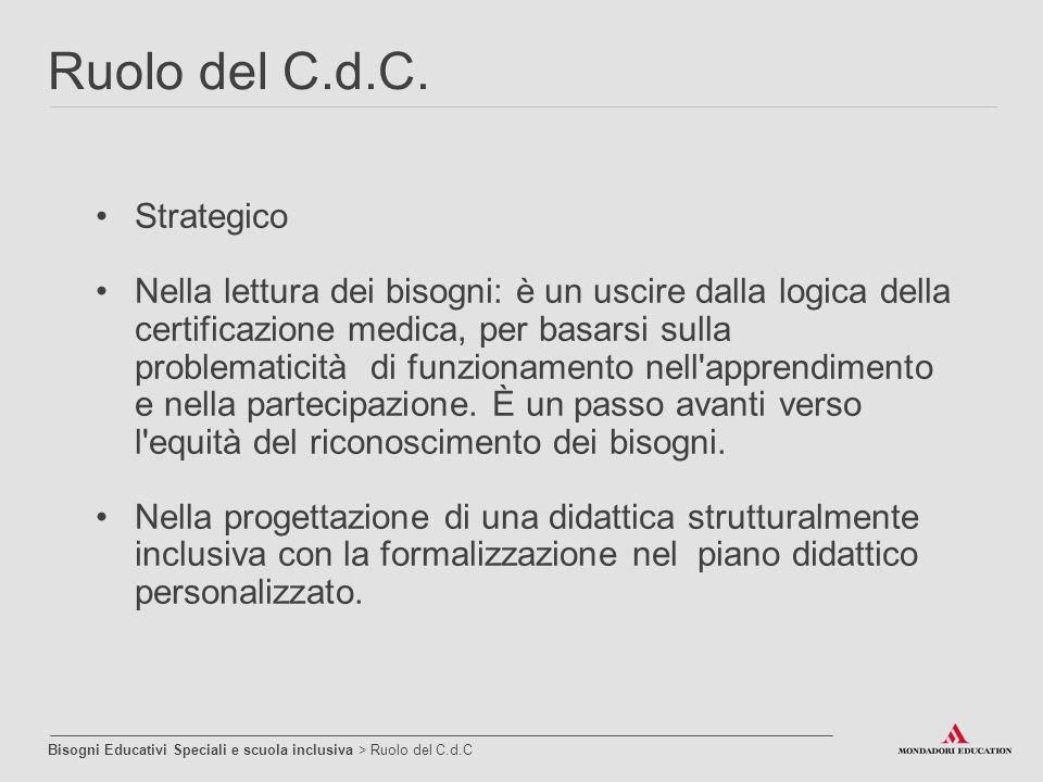 Ruolo del C.d.C. Strategico