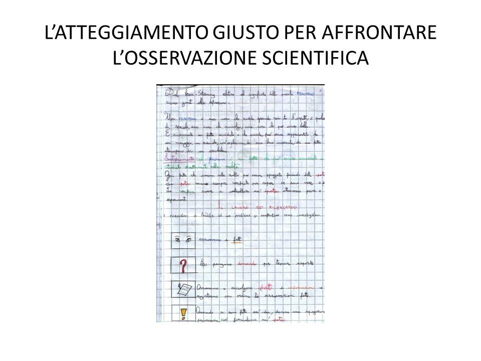 L'ATTEGGIAMENTO GIUSTO PER AFFRONTARE L'OSSERVAZIONE SCIENTIFICA