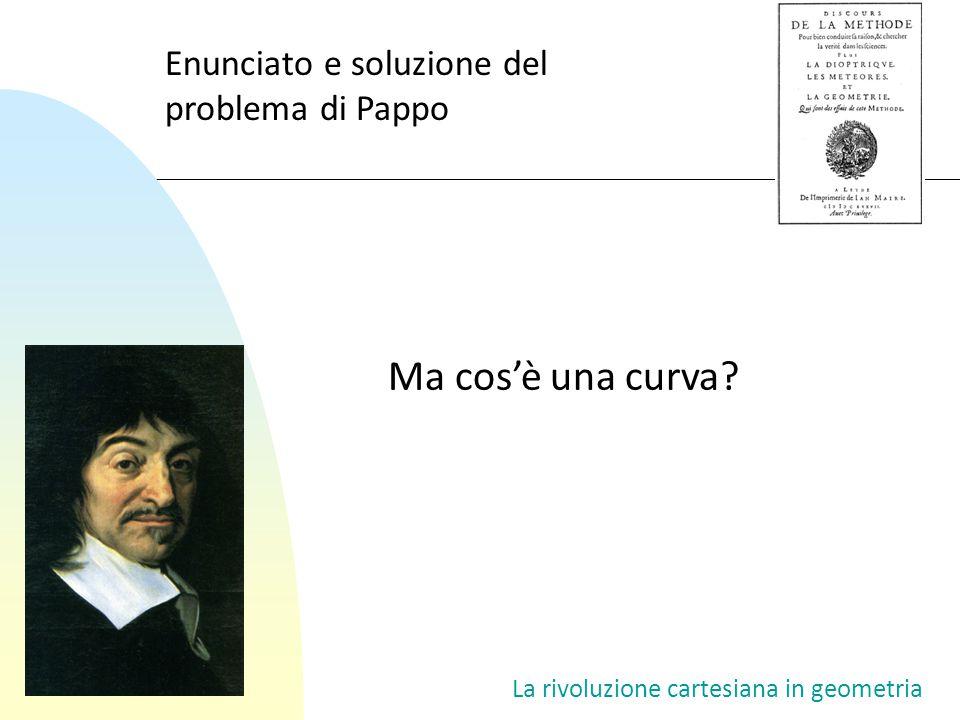 Ma cos'è una curva Enunciato e soluzione del problema di Pappo
