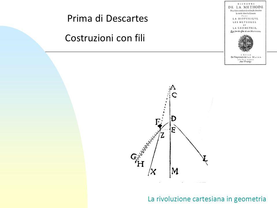 Prima di Descartes Costruzioni con fili