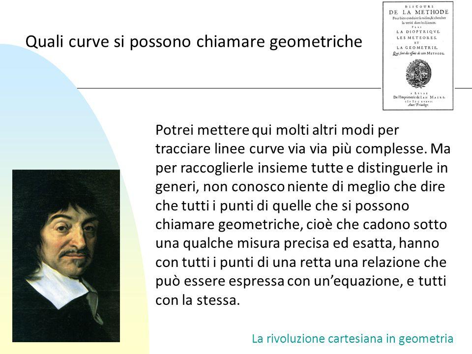 Quali curve si possono chiamare geometriche