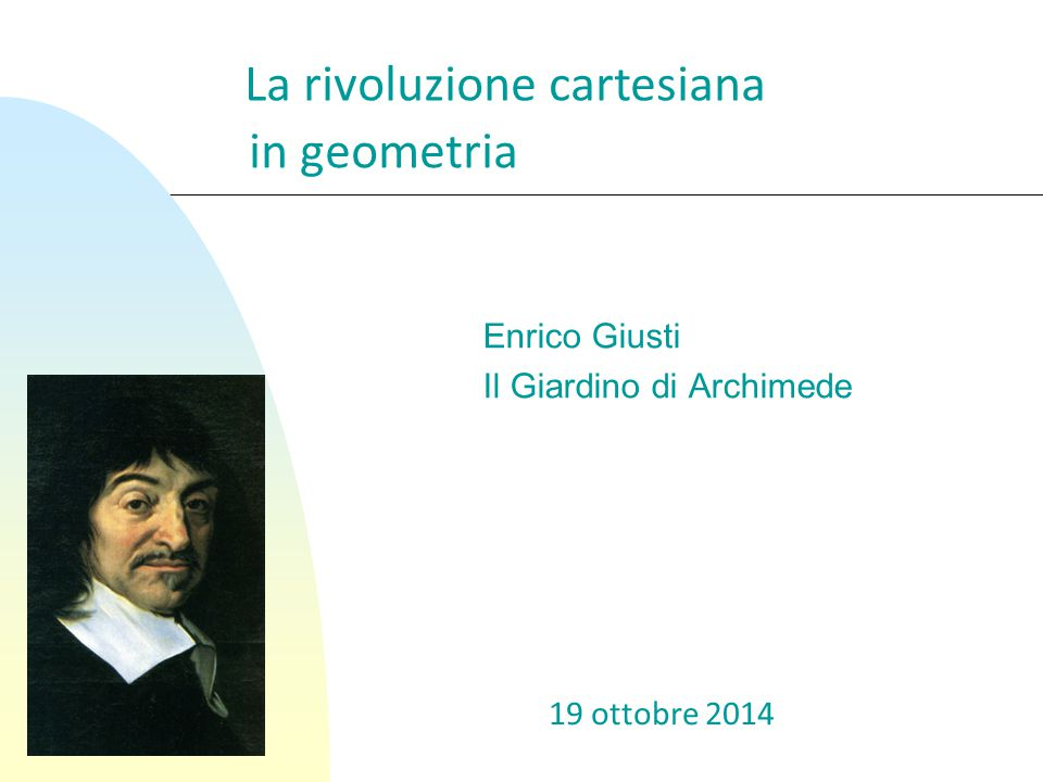Enrico Giusti Il Giardino di Archimede