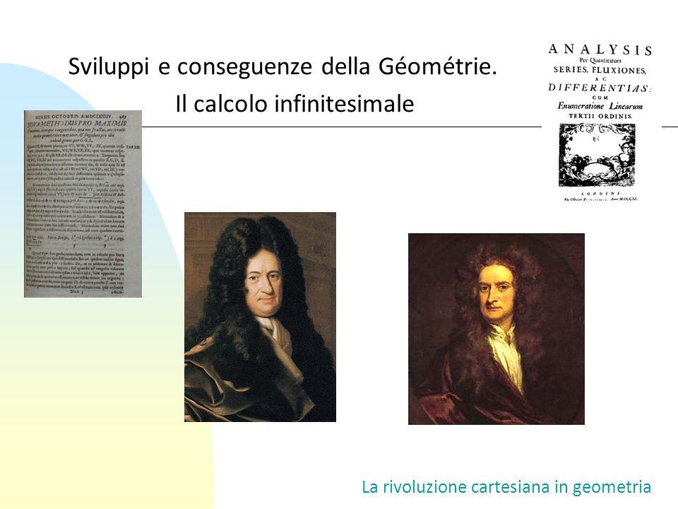 Sviluppi e conseguenze della Géométrie. Il calcolo infinitesimale