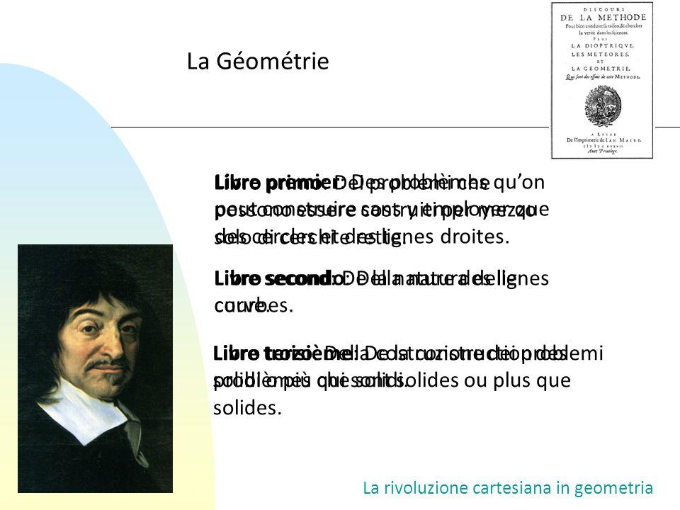 La Géométrie Libro primo: Dei problemi che possono essere costruiti per mezzo solo di cerchi e rette.