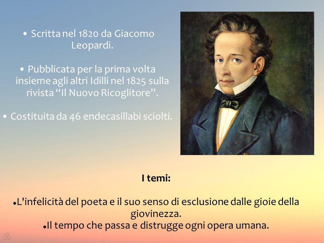 • Scritta nel 1820 da Giacomo Leopardi.