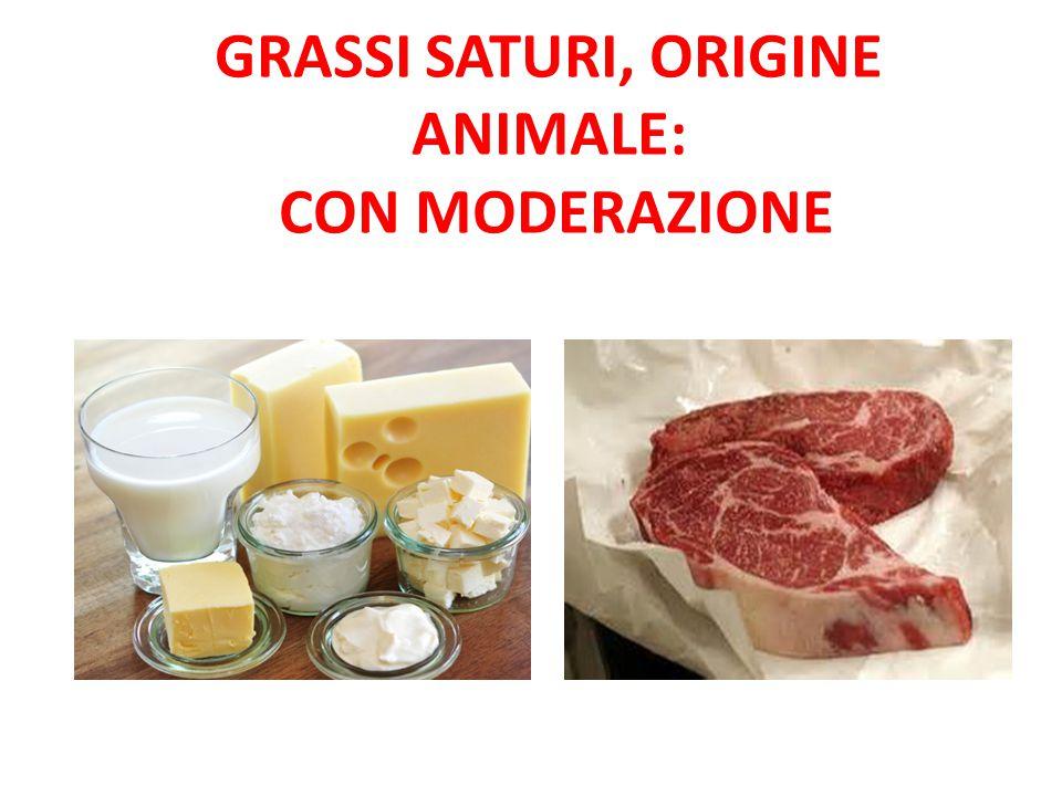 Grassi saturi, origine animale: con moderazione