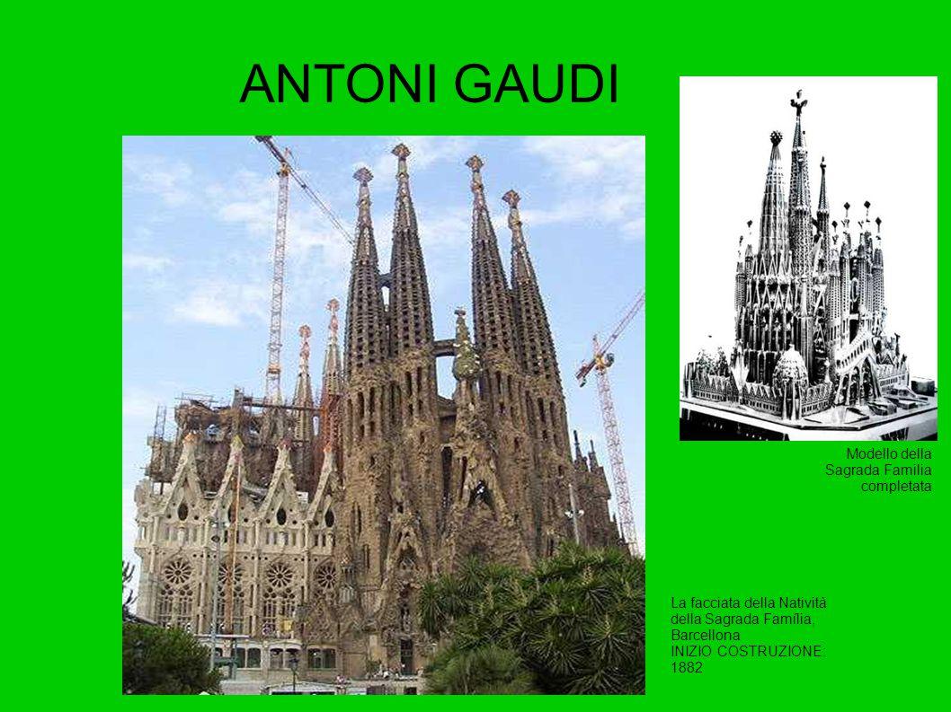ANTONI GAUDI Modello della Sagrada Familia completata