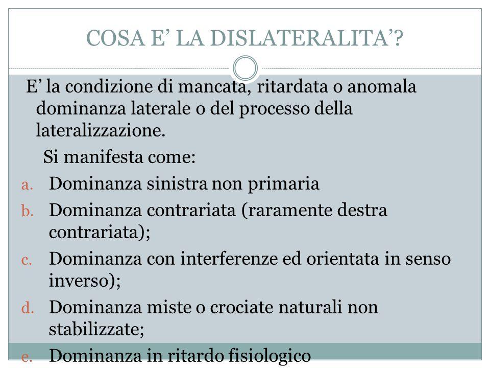 COSA E' LA DISLATERALITA'