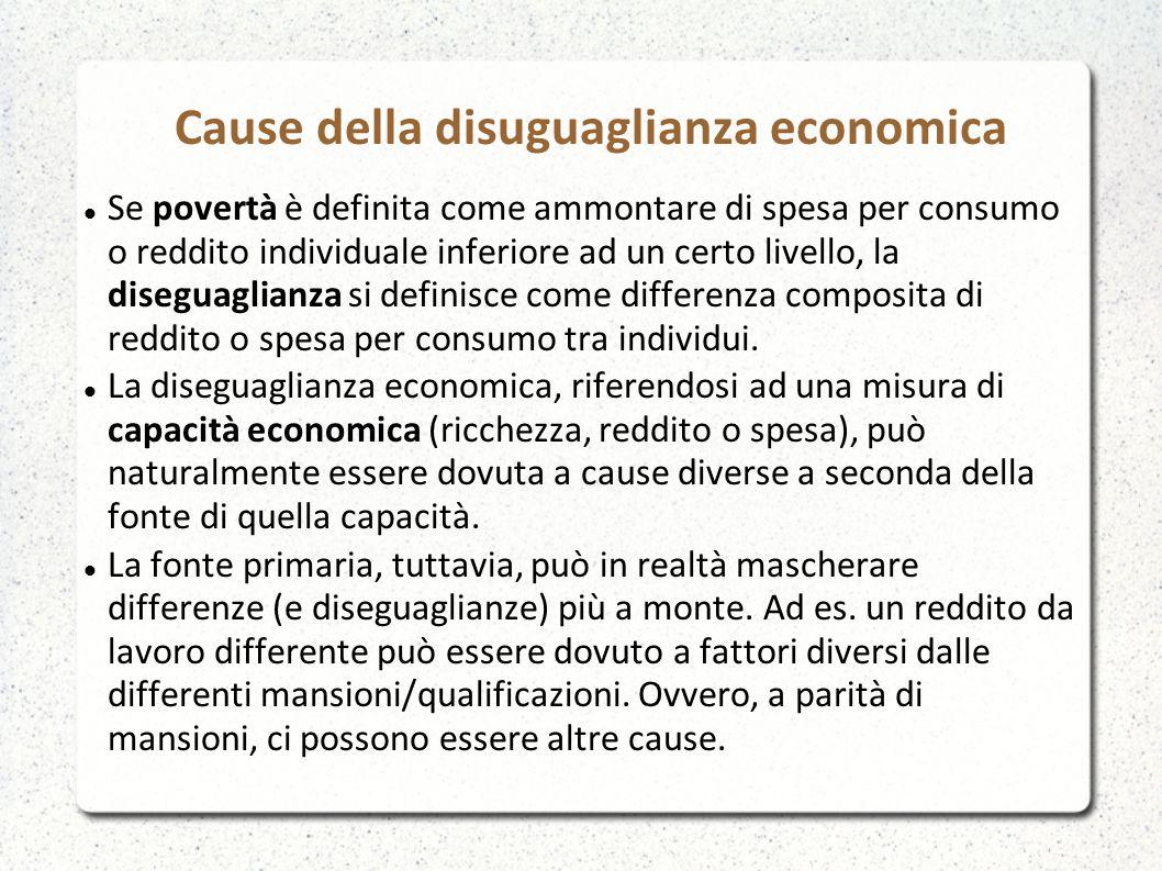 Cause della disuguaglianza economica