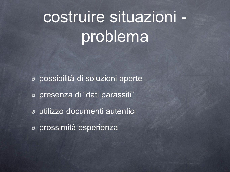 costruire situazioni - problema