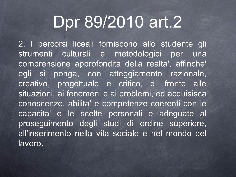 Dpr 89/2010 art.2