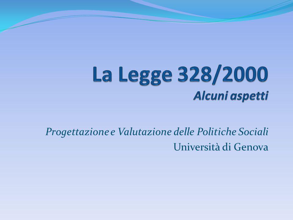 La Legge 328/2000 Alcuni aspetti