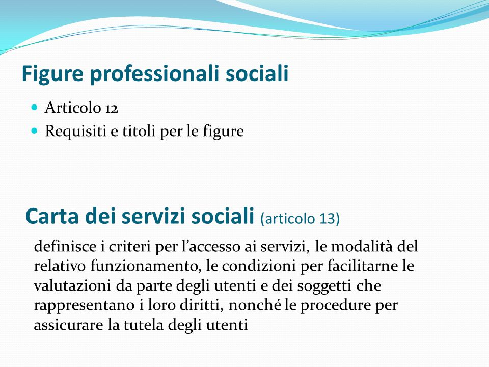 Figure professionali sociali