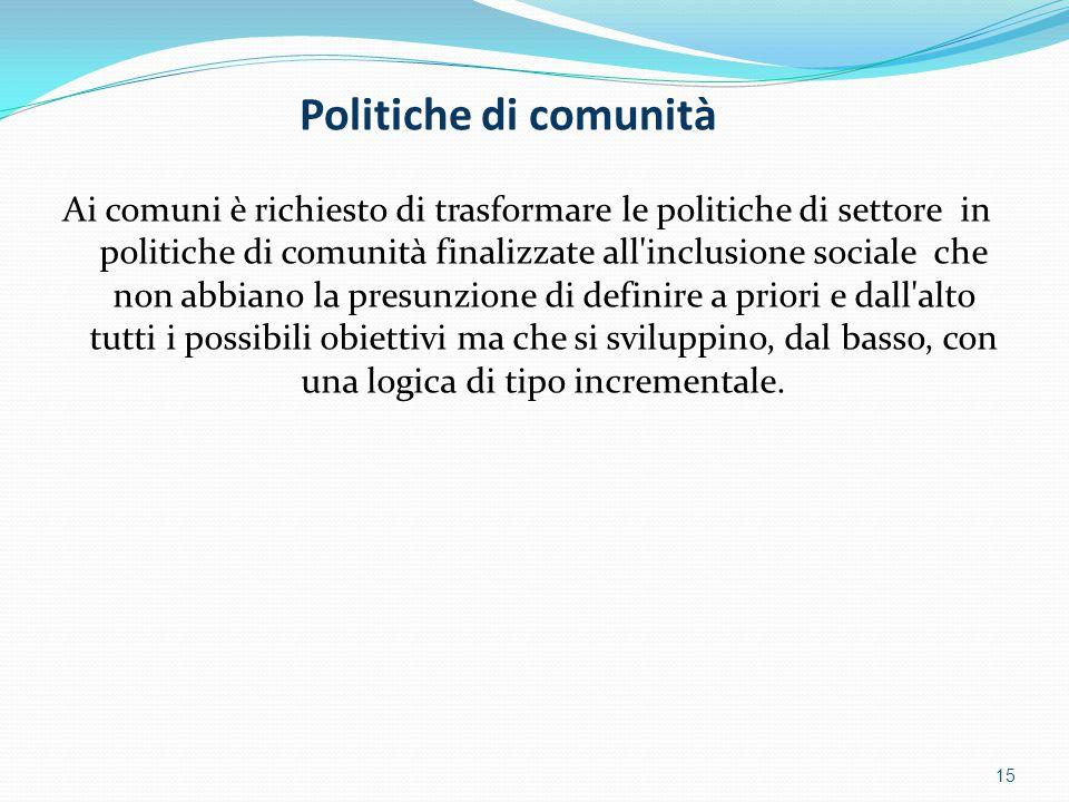 Politiche di comunità