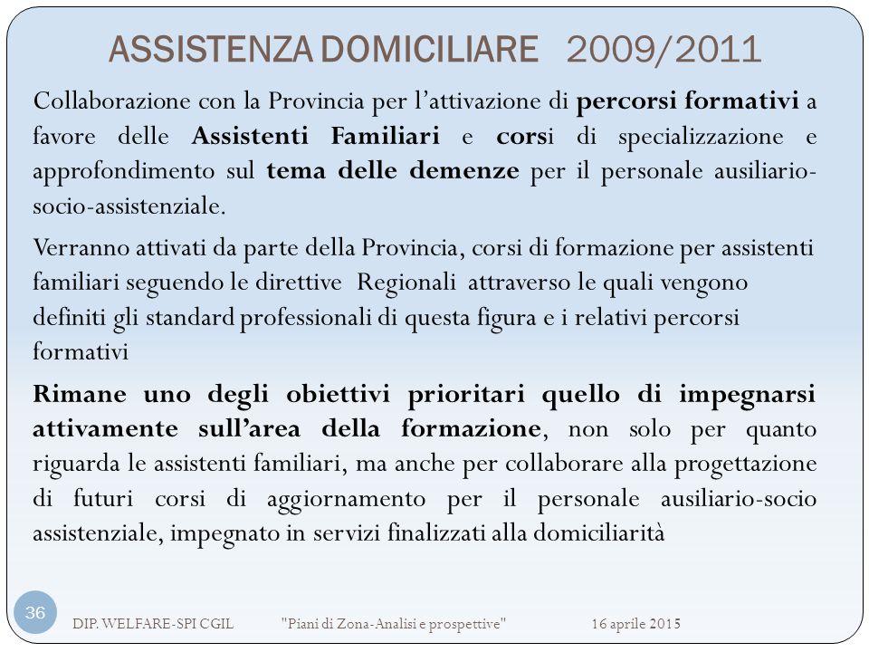 ASSISTENZA DOMICILIARE 2009/2011