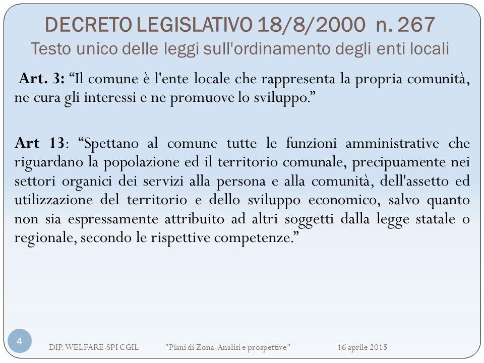 DECRETO LEGISLATIVO 18/8/2000 n