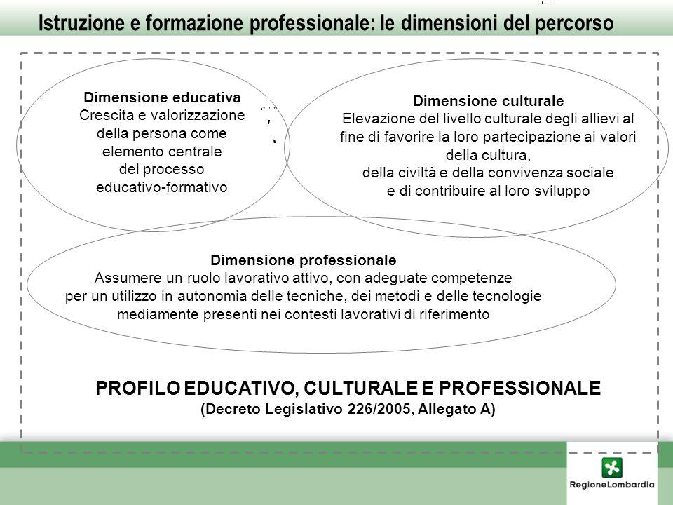 Istruzione e formazione professionale: le dimensioni del percorso