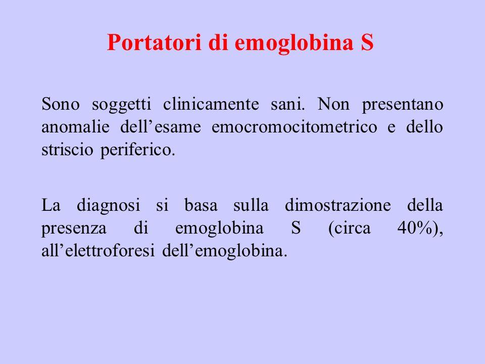 Portatori di emoglobina S