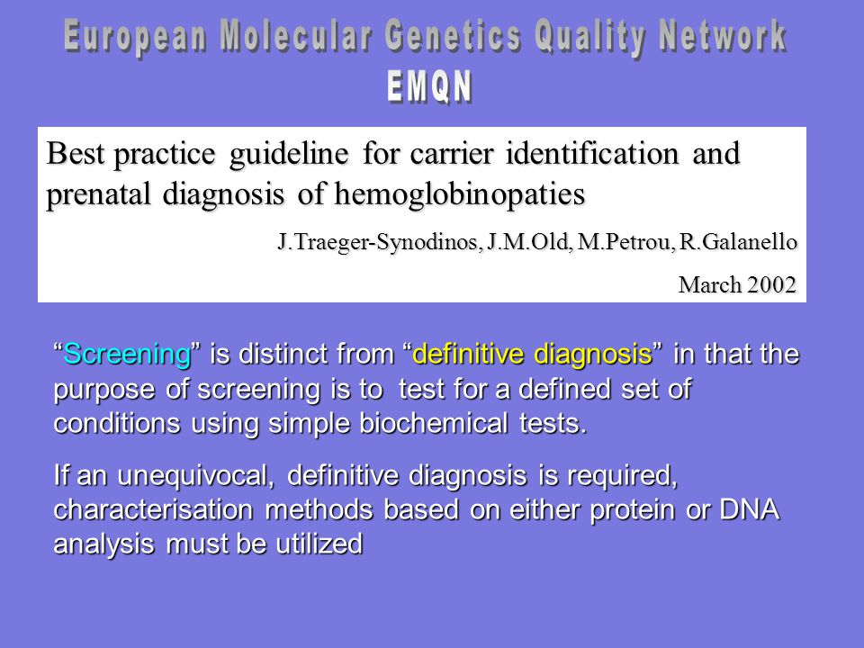 European Molecular Genetics Quality Network