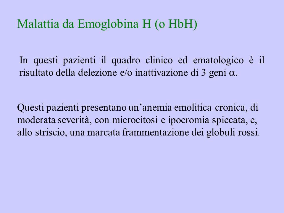Malattia da Emoglobina H (o HbH)