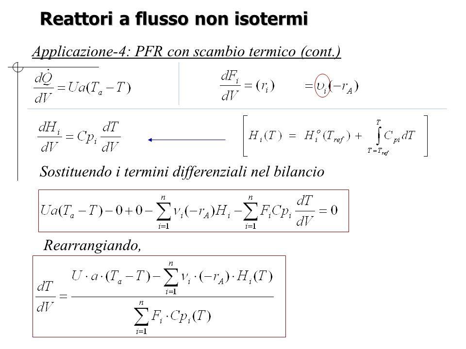 Reattori a flusso non isotermi