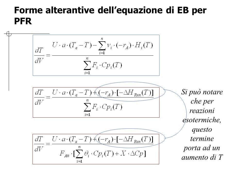Forme alterantive dell'equazione di EB per PFR