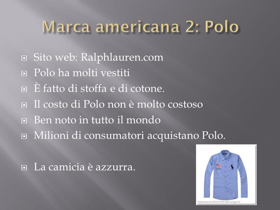 Marca americana 2: Polo Sito web: Ralphlauren.com