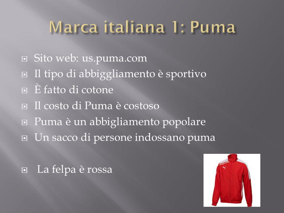 Marca italiana 1: Puma Sito web: us.puma.com