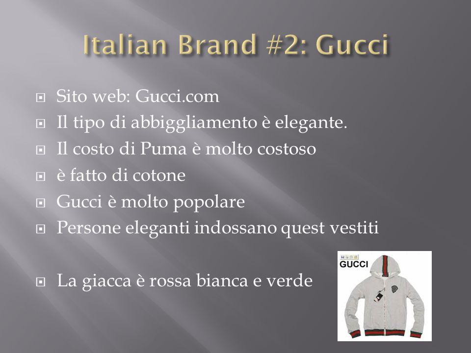 Italian Brand #2: Gucci Sito web: Gucci.com