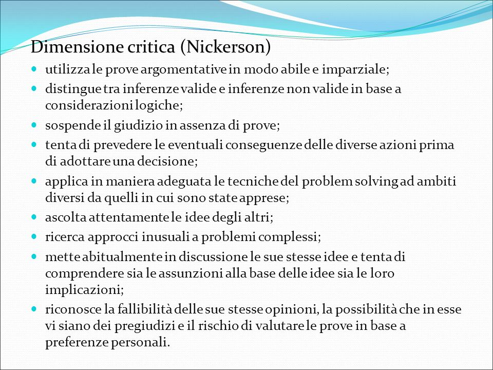 Dimensione critica (Nickerson)